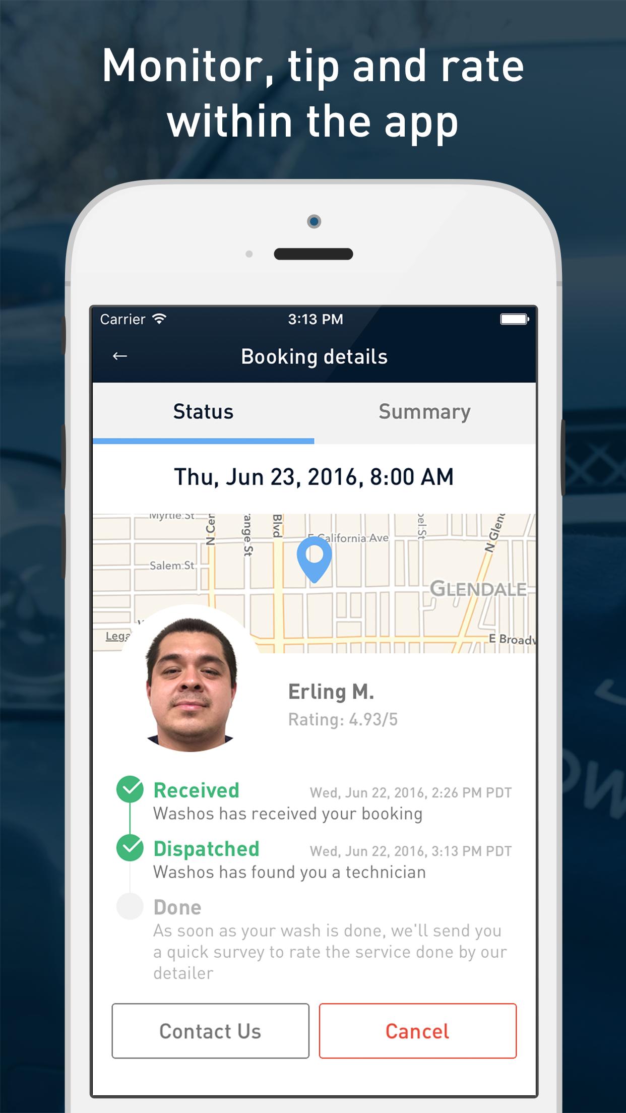 Fifth screenshot - Booking summary screen