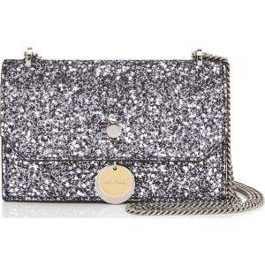 33fbffac275 FINLEY Gunmetal Mix Star Coarse Glitter Fabric Cross Body Mini Bag ...