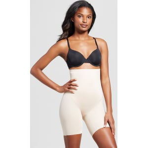 915e516fa2560 SlimShaper by Miracle Brands Women s Tailored High Waist Thigh ...