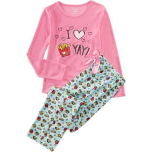 c4de54291 Max   Olivia Little   Big Girls 2-Pc. Fri-Yay Graphic Pajama Set ...