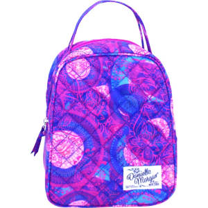 Danielle Morgan Quilted Lunch Bag - Pink Paisley, Multi-Colored