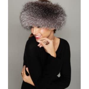 b03afc3573f The Fur Vault Fox Fur Headband from Macy s.