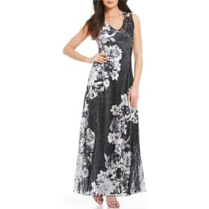 Komarov Floral Print V Neck Maxi Dress From Dillards