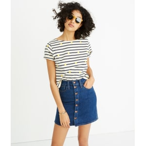 a84ce4dd77 Button-Front Straight Jean Skirt in Arroyo Wash from Madewell.