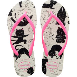 fa291d308 Havaianas Slim Pets Flip Flops White Shocking Pink - Womens from ...