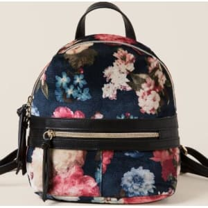a6993a378b3 Victoria Floral Velvet Mini Backpack - Navy