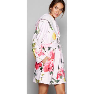 B By Ted Baker Pink Floral Print Citrus Bloom Dressing Gown From