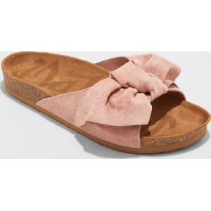 907913bbe00c61 Women s Mad Love Adia Bow Footbed Sandals - Blush 6 from Target.