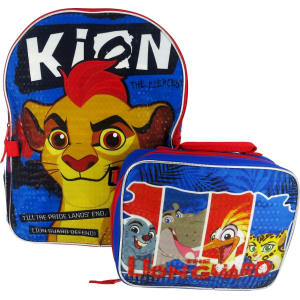 The Lion Guard 16 Kids' Backpack With Lunch Bag - Red/Blue