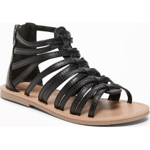 cd840bc6ce8 Old Navy Baby Faux-Leather Gladiator Sandals For Toddler Girls ...