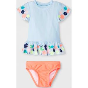 f97a192acd Baby Girls' Floral Short Sleeve Rash Guard Set - Cat & Jack Blue 18M ...