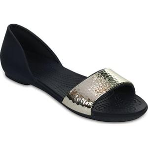 2342bdd18ae736 Crocs Navy   Silver Women s Crocs Lina Embellished d Orsay Flat ...