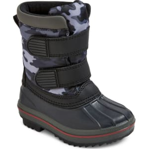 190d501f91768 Toddler Girls  Jared Double Strap Camo Winter Boots - Gray Camo M(7 ...