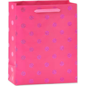 Gift Bag Birthday Pink With Dots
