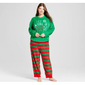 Women s Disney Plus Size Elf 2pc Pajama Gift Set - Green 1x from Target. fbccea063