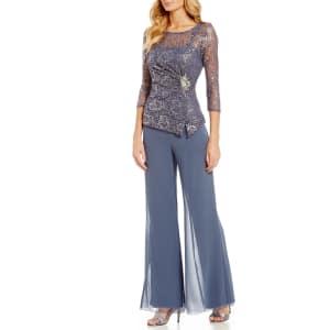 722fc6123f Emma Street Lace Chiffon 2-Piece Pant Set from Dillard s.