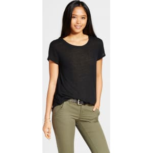 291f6cac Women's Crew Neck T-Shirt Black M - Mossimo from Target.