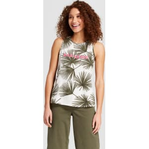 0ffdee5a4dc82 Women s Paradise Graphic Cotton Tank Top - A New Day White Olive S ...