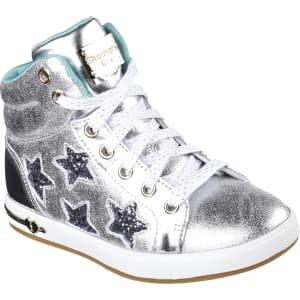 7dc642b4f4f2 Skechers Girls' Shoutout Starry Shine High-Top Silver Sneaker, Size ...