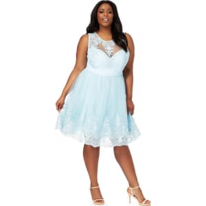 up-to-date styling prevalent best authentic Chi Chi London - Light Blue 'Seema' Plus Size Dress