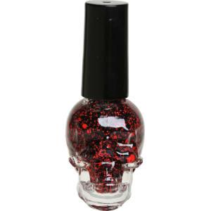 Blackheart Beauty Black & Red Splatter Nail Polish from Hot Topic.