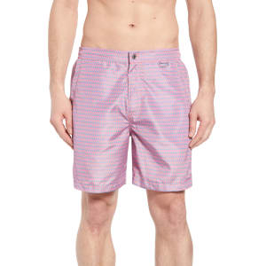 b7f8ee3134deb Men's Peter Millar Collection Wakka Flokka Flamingos Swim Trunks, Size  Small - Red from Nordstrom.