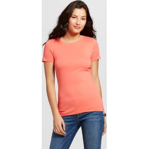 fd4c7183 Women's Ultimate Crew T-Shirt Bright Coral Xxl - Merona from Target.