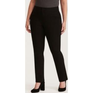 187c41ceb40 Higher-Rise Straight Leg Pant in Black from Torrid.