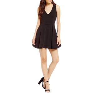 de36551f263 B. Darlin Sleeveless V-Neck Bow-Back Fit-And-Flare Dress from Dillard s.