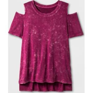 Girls Cold Shoulder Knit T Shirt Art Class Raspberry S From Target
