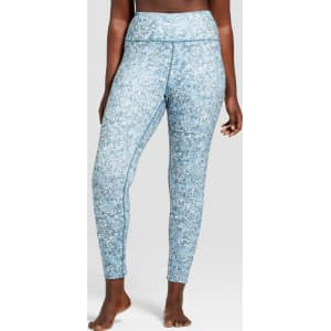 d6456a79182 Women s Plus Size Printed Comfort Mid-Rise Leggings - Joylab Seaweed ...