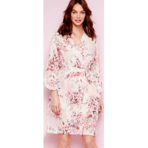 8d025b0950bd The Collection - Pale Pink Floral Print Chiffon  Eva  Dressing Gown ...