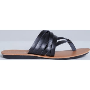 2ec068d10 Lane Bryant Women s Multi-Strap Flip Flop Sandal 12w Black from Lane Bryant.