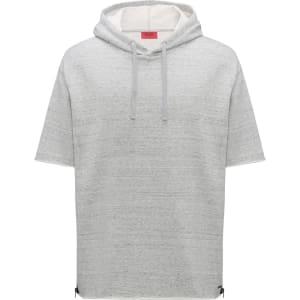 f061763579e Hugo Boss Short-Sleeved Hooded Sweatshirt Zippered Side Seams M Open Grey  from HUGO BOSS.