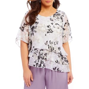 571bbc5b240fef Alex Evenings Plus Size Floral Print Blouse from Dillard's.