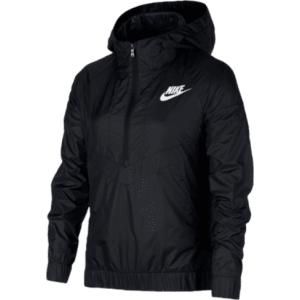 Girls Nike Windrunner Jacket - Grade School - Black White from ... b8b06c276b