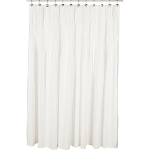 Southern Living Amara Pleated Linen Shower Curtain