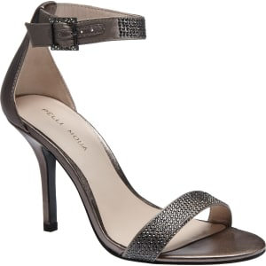 Pelle Moda Kacey Metallic Ankle Strap Rhinestone Dress Sandals