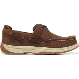 9063abc692 Sperry Kids  Lanyard Boat Shoe Pre Grade School Shoes (Cigar Brown) from  Famous Footwear.