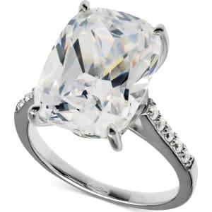 0634cfd85397 Arabella Swarovski Zirconia Oval Ring in Sterling Silver (15-5 8 Ct ...