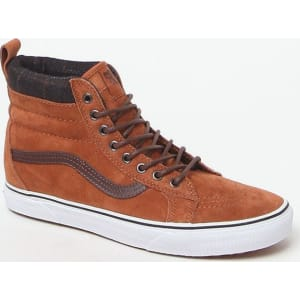 7f190385dd6191 Vans Sk8-Hi Mte Glazed Ginger   Plaid Shoes - Wild Dove from PacSun.