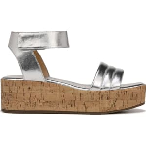 d6340ab5bae Franco Sarto Women s Ioli Wedge Sandals (Silver Silver) from Famous Footwear .