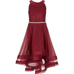 a140f044c807 Xtraordinary Big Girls 7-16 Embellished-Waist Horsehair-Hem Dress ...