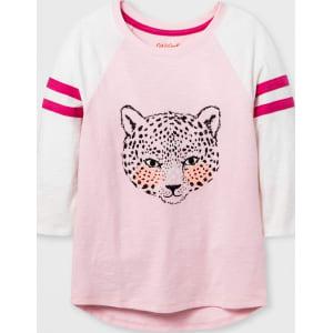 11ea4ae58639 Girls  3 4 Sleeve Animal Baseball Graphic T-Shirt - Cat   Jack Pink ...