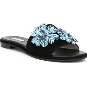 Chaucer Suede Raffia Ornamnet Sandals