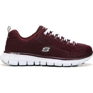 600951466656 Skechers Women s Synergy Style Watch Memory Foam Sneakers (Burgundy ...