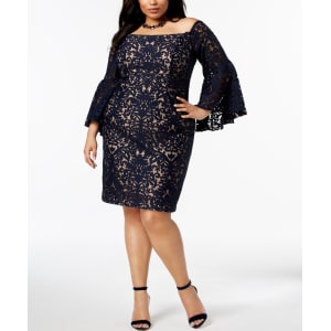36604b83 Xscape Plus Size Lace Off-The-Shoulder Dress from Macy's.