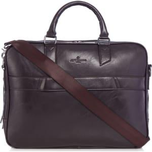d4b3f672b Jeff Banks - Brown Faux Leather Laptop Bag from Debenhams.