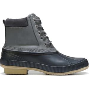 2386de68140eaa Tommy Hilfiger Men s Charlie Waterproof Duck Boots (Dark Grey) from Famous  Footwear.