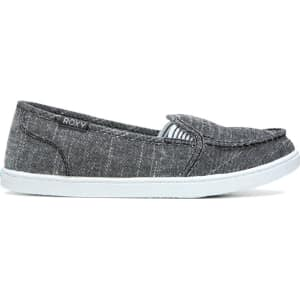 0a2eacba941 Roxy Women s Minnow Slip on Sneakers (Black Chambray) from Famous ...